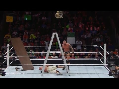 John Cena vs Randy Orton - Ladders Match, table, chair | WWE TLC Highlights