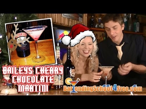 How To Make The Bailey's Cherry Chocolate Martini (Holiday Drink Recipes)