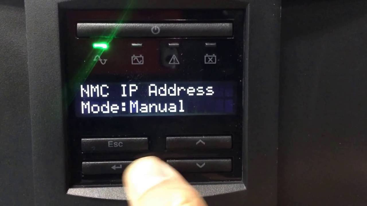 APC UPS NMC IP DHCP & Manual Setup via Display Interface 20161212