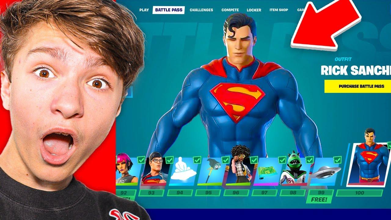14 Year Old BUYS *NEW* Fortnite Season 100 Tier BattlePass (Superman)