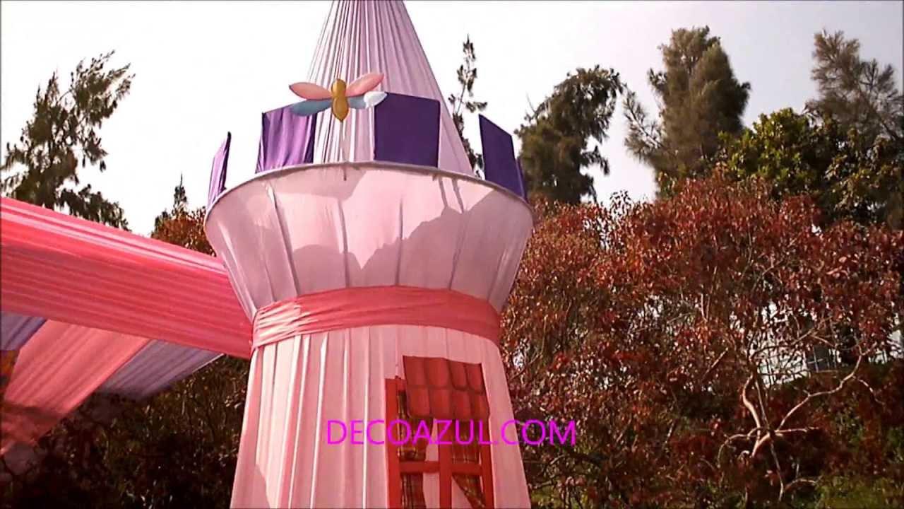 Decoracion de fiestas infantiles princesas decoazul youtube for Decoracion de princesas