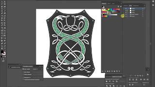 Рисуем змеек в кельтском стиле. Drawing snakes in the Celtic style.