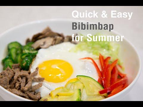 How to Make Easy Bibimbap for Summer (간단 비빔밥)