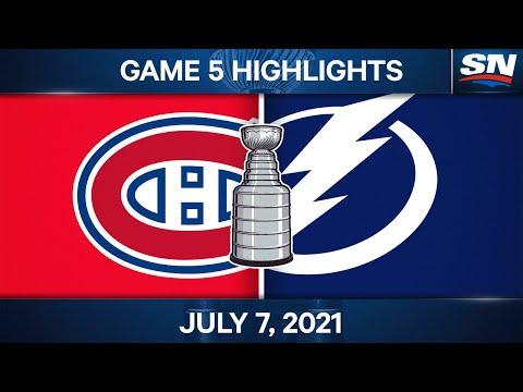 NHL Game Highlights   Canadiens vs. Lightning, Game 5 – Jul. 07, 2021