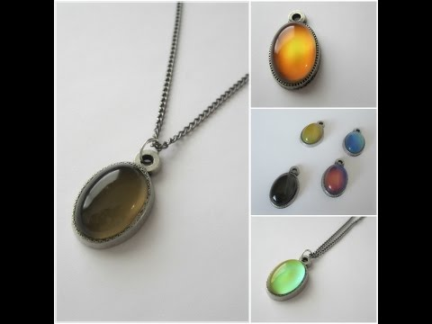 Mood Stones - Color changing mood pendant