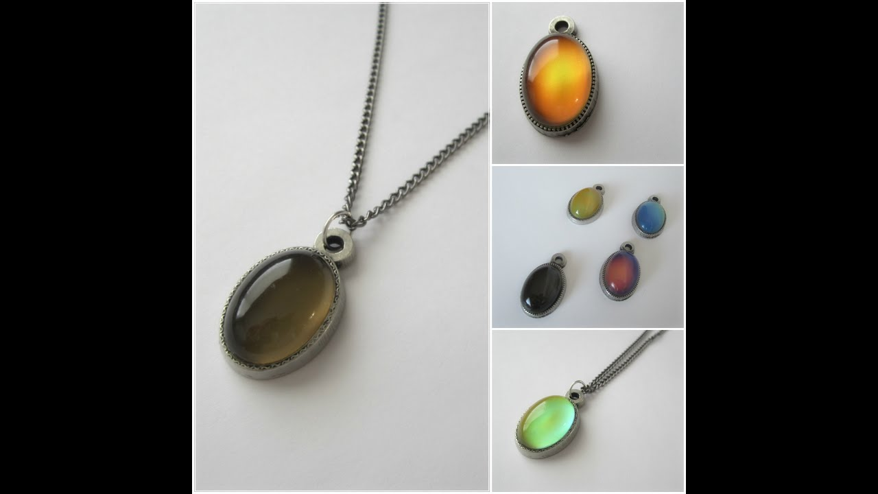 Mood stones color changing mood pendant youtube mood stones color changing mood pendant aloadofball Gallery