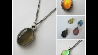 Mood Stones  Color changing mood pendant