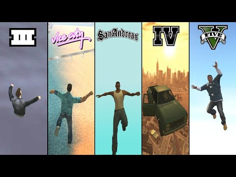 Falling From SKY In GTA Games! (GTA 3, Vice City, San Andreas, IV, V)