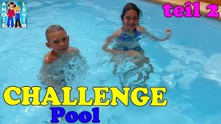 CHALLENGE im SWIMMING POOL teil2 - Kids Family Fun - Angies und Levis Kinderkanal