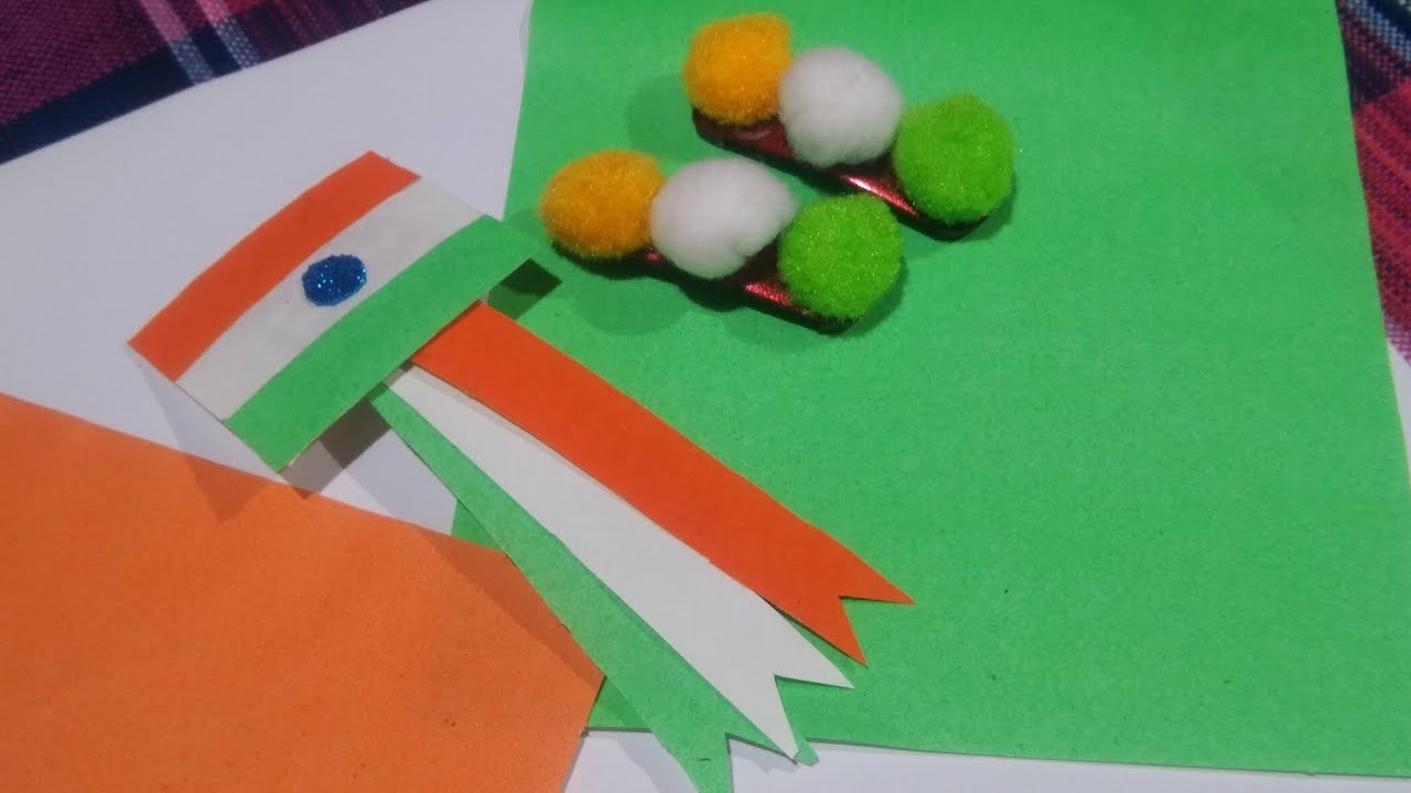 DIY with Mina Singh # Happy Independent day # Hair pin & Badge making at  home in easy way for kids