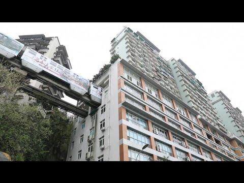 Chinese metro runs through residential apartment