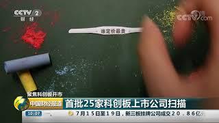 [中国财经报道]聚焦科创板开市 首批25家科创板上市公司扫描  CCTV财经
