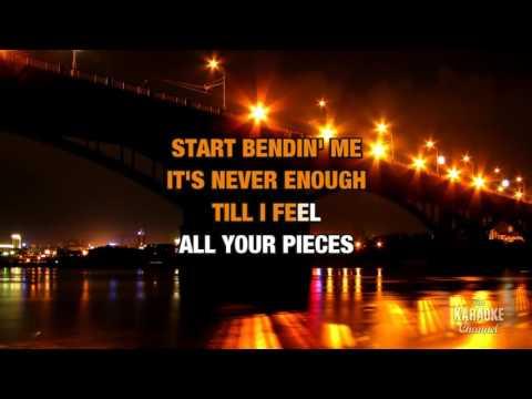 Bent in the style of Matchbox Twenty   Karaoke with Lyrics
