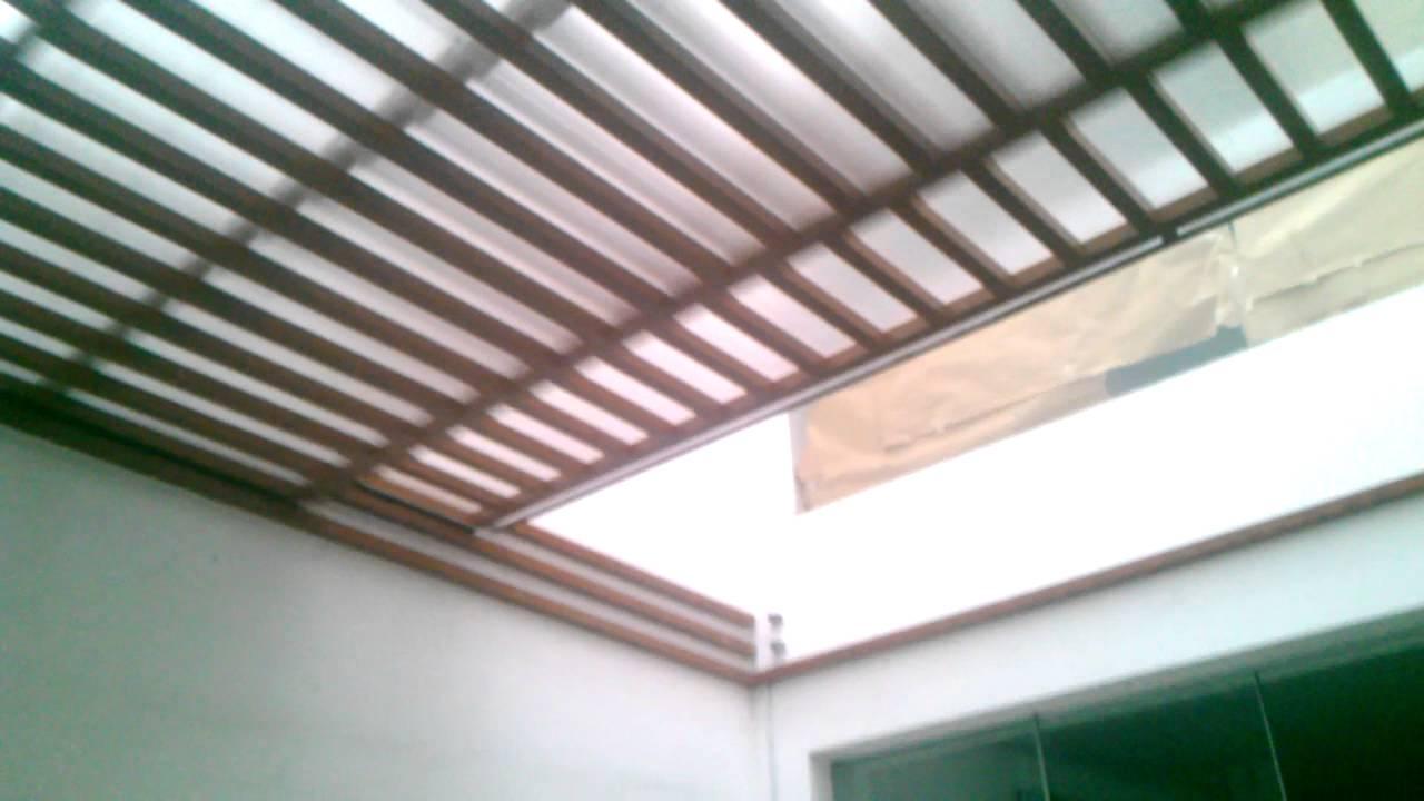 Techo corredizo sol y sombra con estructura de al youtube for Materiales para toldos de aluminio