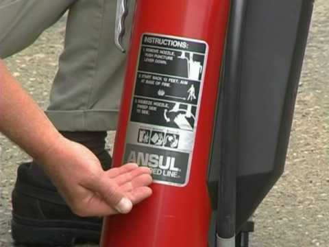 Ansul Red Line Dry Chemical Fire Extinguisher.wmv