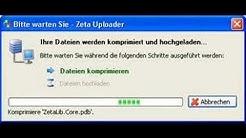 Demonstration des Zeta Uploader