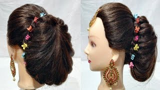 fancy long hair ponytails with French || cute hairstyles || hair style girl || hairstyle for girls