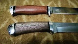 Нож Лиса от Аир Златоуст и нож Волк от Ножевой мастерской Медведь