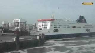 Calais - Dover Autofähre car ferry Ärmelkanal nach England Kreidefelsen
