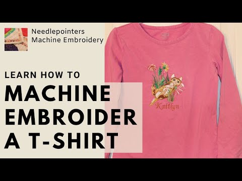 T-Shirt - How To Machine Embroider A T-Shirt
