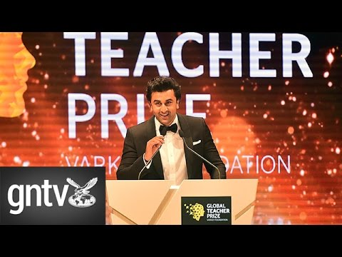 Bollywood stars Ranbir Kapoor and Mahira Khan in Dubai to laud world's teachers