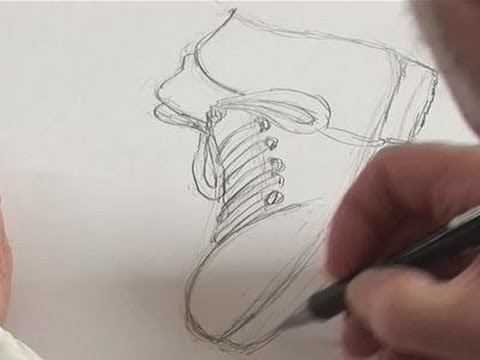 How To Sketch Shoes - YouTube