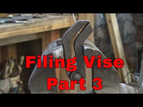 Making the Filing Vise  part 3  blacksmith tools