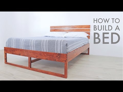 How To Build a Modern Bed w/ Limited Tools | Modern Builds | DIY