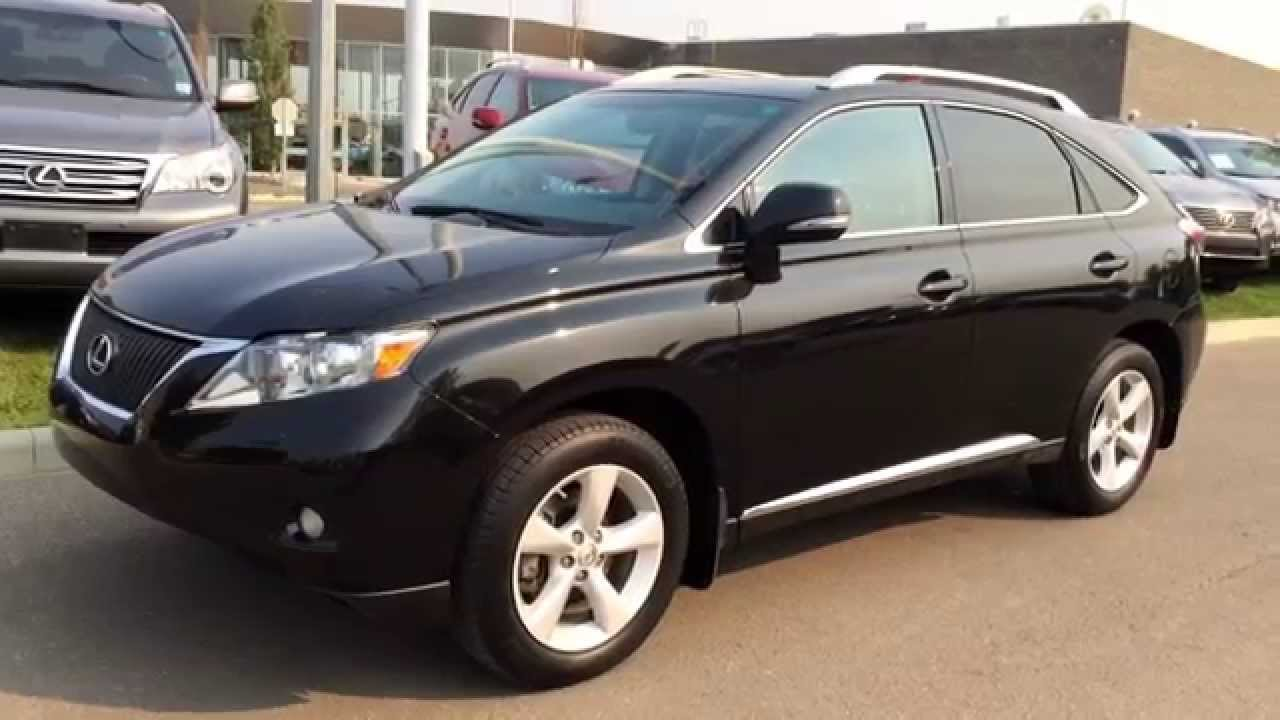 Lexus Certified Pre Owned Black 2012 Rx 350 AWD Premium Package 1 Review    Spruce Grove, Alberta   YouTube