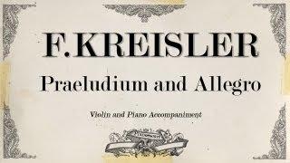 F.Kreisler - Praeludium and Allegro - Piano Accompaniment