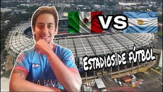 ARGENTINO REACCIONA A ESTADIOS MEXICANOS VS ESTADIOS ARGENTINOS