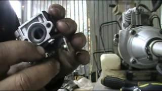 Жөндеу бензотримера МПД 1033 (глохнет бойынша гарячему)