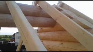 видео Кровли и креплений кровли - крыша домов из бревна