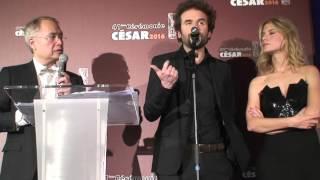 Cyril Dion, Mélanie Laurent César 2016 du Meilleur Film Documentaire pour Demain