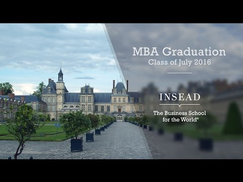 INSEAD MBA Graduation - Class of July 2016