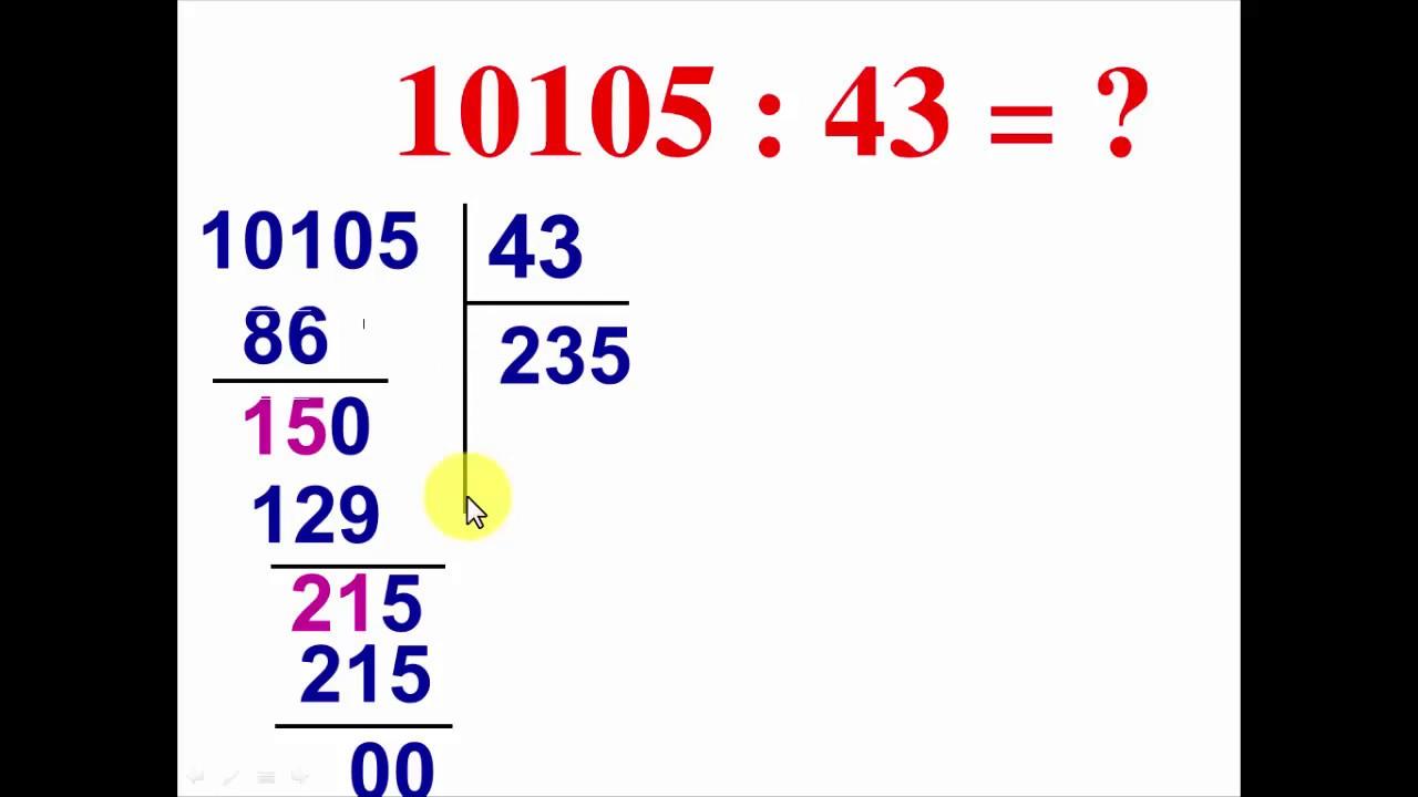 Toán 4: Chia cho số có hai chữ số tiếp theo 2