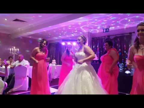 Mash up mix..bride and bridesmaids dancing  August 2016
