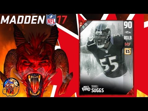 MOST FEARED TERRELL SUGGS IS NOT GOOD AS A USER LB! MOST FEARED GAMEPLAY REVIEW | MUT 17