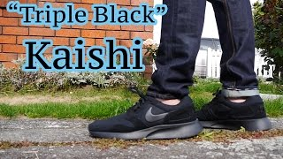 "Nike Kaishi ""Triple Black"" On-Feet & Close Up"