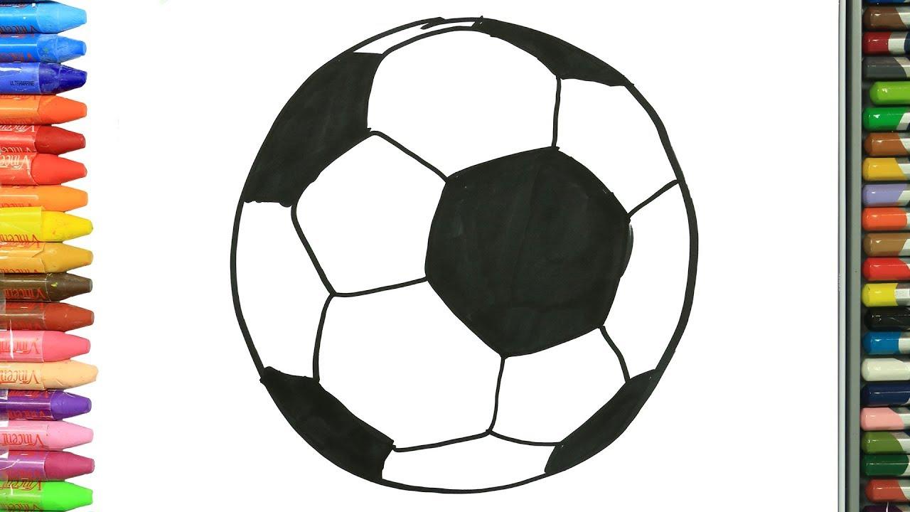 Futbol Topu Kolay Cizim Nasil Cizilir Cocuklar Icin Eglenceli