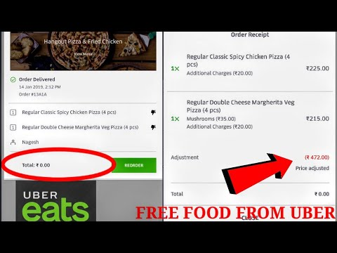 How to order free food from uber eats//Get free credits from uber eats