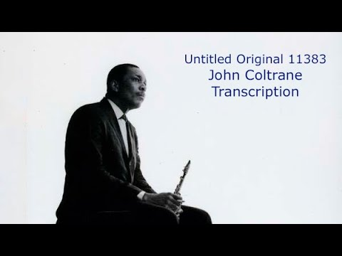 Untitled Original 11383/John Coltrane's (Bb) Transcription .Transcribed by Carles Margarit