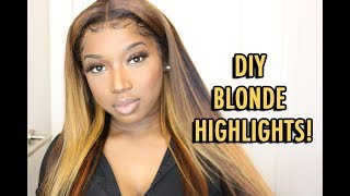 WATCH ME BLEACH THIS WIG! l Blonde Highlights Tutorial l WHITFABBY