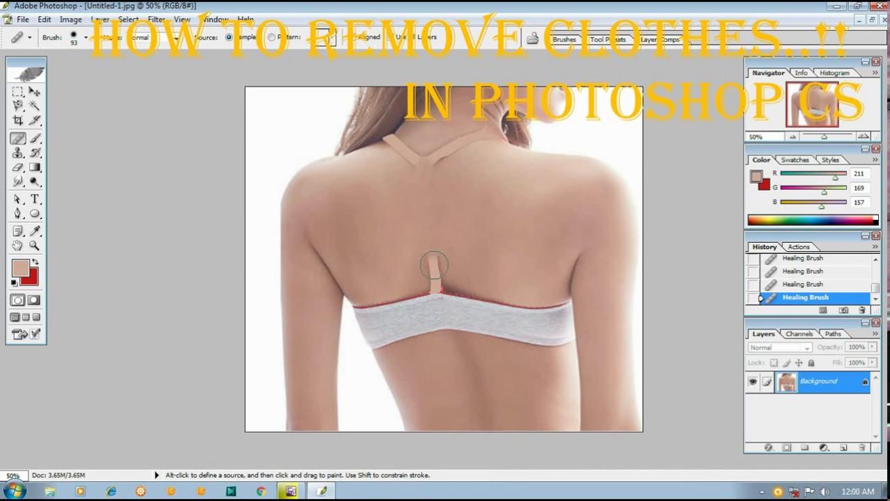 Photoshop remove clothes software