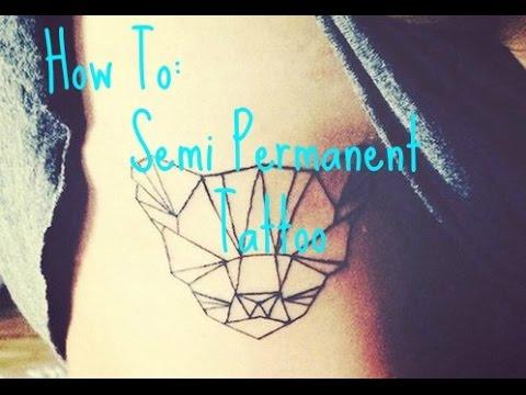 how to: semi permanent tattoo - YouTube