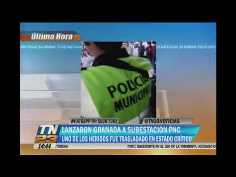 Lanzaron una granada a subestación de la PNC