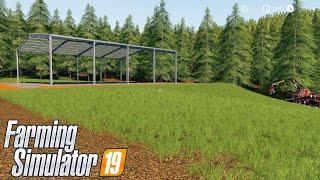 A COSNTRUÇÃO DA MINI SEDE | Farming Simulator 2019 | PONTE FUNDA