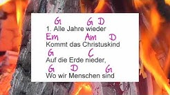 Alle Jahre wieder - Lyrics and Chords - Campfire Version - Musikschach