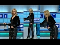 Rachel Riley | Monday 6th Feb 2017 | Leather skirt and studded boots
