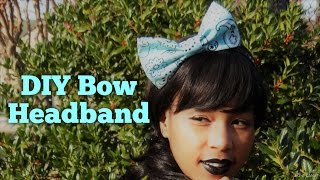 DIY 3Minute Big Bow Headband
